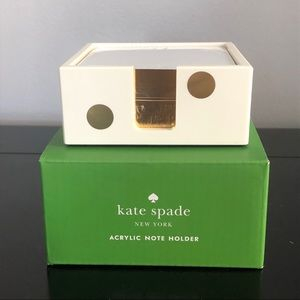 Kate Spade Acrylic Note Holder